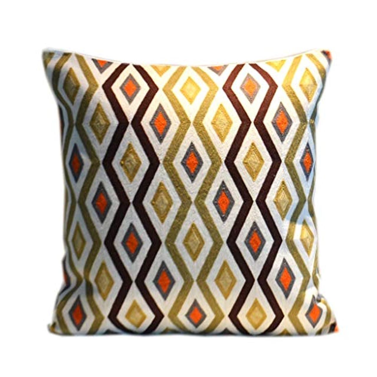 ハドル輪郭混沌18-AnyzhanTrade 綿の枕刺繍枕ベッドサイドクッション抽象クッション枕クッション (Color : 2)