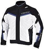 RSタイチ(アールエスタイチ)バイクジャケット ホワイト/ブルー (サイズ:L) イングラム メッシュジャケット RSJ315