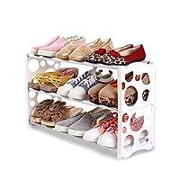 シューズラック プラスチック、3層モダンスタイル、便利なインストール、防塵処理、クリーンスペース、環境保護材料、3色、2スタイル、シンプルで創造的なプラスチック製の靴のキャビネット。 (色 : 白, サイズ さいず : Bubble type)