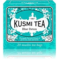 (KUSMI TEA) クスミティー ブルー デトックス ティーバッグ (個別包装なし) 2.2g×20袋入り [正規輸入品]