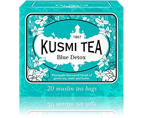 (KUSMI TEA) クスミティー ブルー デトックス モスリン ティーバッグ 2.2g×20袋入り [正規輸入品]