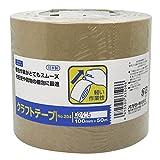 オカモト クラフトテープ クリーム 100mm×50M #204