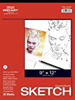 Pro Art 12-Inch by 18-Inch Sketch Paper Pad 30 Sheets [並行輸入品]