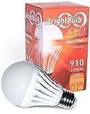 LEDライトbulb- BrightBulb LED電球a19、高効率、、ウォームホワイト 13W = 75-100W Traditional H&PC-59068