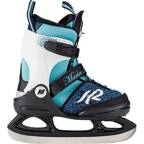 [ケーツー] ジュニア ガールズ アイススケート フィギュアスケート スケート靴 MARLEE ICE ブルー ブラック I180300201