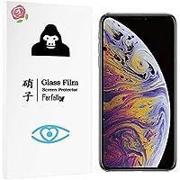 Farfalla iPhone XS Max[ブルーライトカット/CORNING GORILLA GLASS 5使用/3D Touch対応/硬度9H/オイルコーティング/防指紋/2.5Dラウンドエッジ加工/飛散防止]ガラスフィルム (0.3mm)
