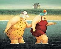 ジュディとマージ・by Lowell Herreroレディースノベルティ印刷ポスター32x 26