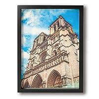 Hao Jinsun Adventure Ancient Architecture Notre Dame De Paris 絵画 壁ポスター アートパネル 装飾画 壁飾り インテリアアート 木製の枠 モダン 現代の絵 額縁付き 40×30cm