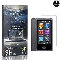 【1枚セット】 CUNUS iPod Nano 7 ガラスフィルム、 iPod Nano 7 専用設計 99%高透過率 硬度9H 耐衝撃 強化ガラスフィルム、 厚さ0.33mm キズ防止 傷から守る 自動吸着 液晶保護フィルム