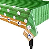 Amscan Baseball Dream Rawlings Plastic Table Cover Tableware, 140cm x 260cm Others Party Supplies (6 Piece)