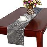 GGSXD テーブルランナー すばしこい グレー猫 クロス 食卓カバー 麻綿製 欧米 おしゃれ 16 Inch X 72 Inch (40cm X 182cm) キッチン ダイニング ホーム デコレーション モダン リビング 洗える