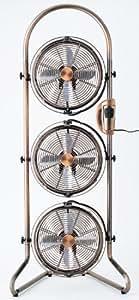 ドウシシャ 21cm3連タワー型メタルBOX扇風機 アロマ付き ブロンズ MBM-2381(ABM)