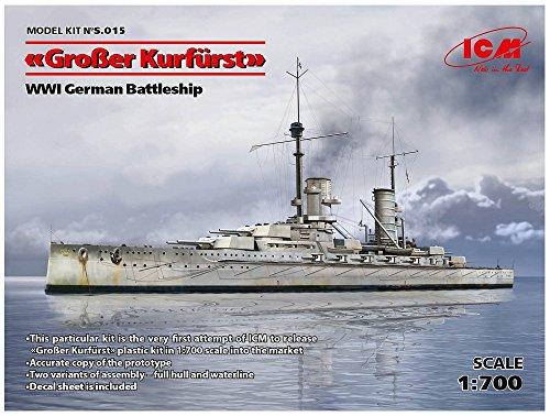 ICM 1/700 ドイツ海軍 弩級戦艦 グロッサークルフェルスト プラモデル S015
