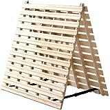 タンスのゲン すのこマット シングル 天然桐 折りたたみ 二つ折りタイプ リブ加工 完成品 風-kaze- 1761000100