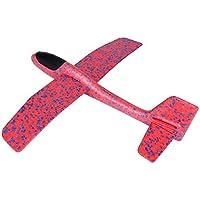 Asixx 飛行機 おもちゃ 手投げ 親子ゲーム 回転飛行 慣性で飛び 知育玩具 組み立て簡単 6歳以上 アウトドアプレイ 野外 公園 遠足(レッド)
