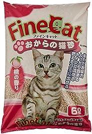 常陸化工 ファインキャットおからの猫砂 桃の香り 6L