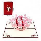 Paper Spiritz メッセージカード バレンタインデー 結婚式 結婚祝い 3D 立体 カード 誕生日
