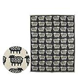 [クリッパン] KLIPPAN コットン&シュニール織り ブランケット 140x180 Black Sheep ダークグレー [並行輸入品]