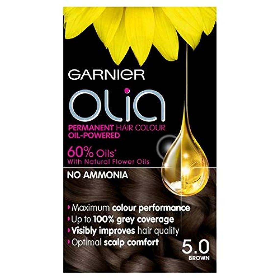風刺逃れる中毒[Garnier ] 5.0茶色の永久染毛剤Oliaガルニエ - Garnier Olia 5.0 Brown Permanent Hair Dye [並行輸入品]