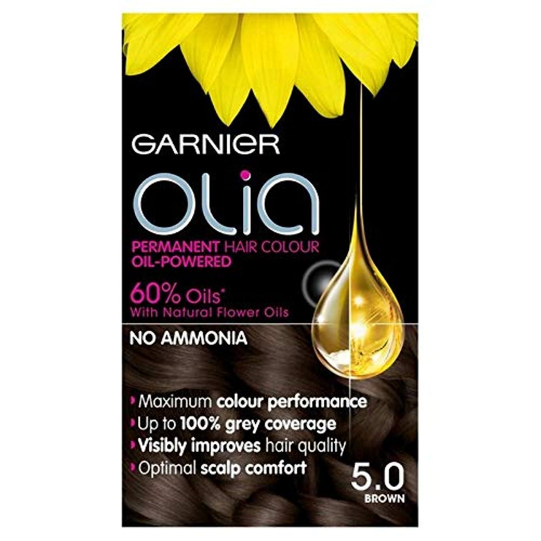 五十意識ボア[Garnier ] 5.0茶色の永久染毛剤Oliaガルニエ - Garnier Olia 5.0 Brown Permanent Hair Dye [並行輸入品]