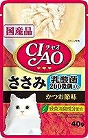 チャオ (CIAO) パウチ 乳酸菌入り ささみ かつお節味 40g