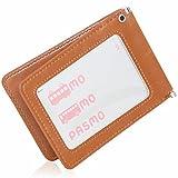 BLUE SINCERE 定期入れ パスケース 革 レザー メンズ バタフライ 二つ折り 5ポケット オリジナルギフトBOXセット (レトロキャメル)