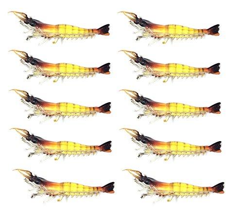 【オルルド釣具】ソフトシュリンプワーム(エビワーム)  約9.5cm 3g 10個セット ソフトルアー 海老ワーム 子供や餌のつけられない女性に最適 落とし込みでのタイ狙いなど 探り釣り レッドバス・シーバスなどにも最適 レッドヘッド&レッドテイル 頭尻尾赤 10個 qb100060a02n0