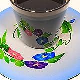 遊生活・竜玉堂 グラスに花咲く イリュージョンコースターアサガオ・グラスセット プレゼント 布製