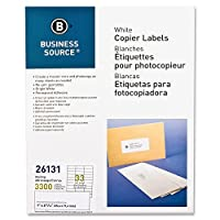 business source white laser shipping labels pack of 600 by