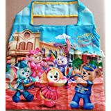 日本未発売 香港ディズニー ダッフィーフレンズ エコバッグ ハッピーミュージック ダッフィー シェリーメイ ステラルー ステラ・ルー クッキー ジェラトーニ