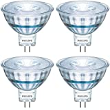 Philips LED 470278 50 Watt Equivalent Classic Glass MR16 Dimmable LED Indoor & Landscape Flood Light Bulb (4 Pack), 4-Pack, B