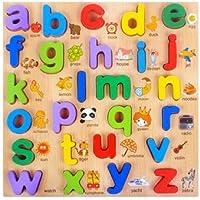MeRaPhy) 赤ちゃん 型あわせ おもちゃ アルファベット A to Z 認知 パズル 26個 知育玩具 認知 訓練 識別 学習 想像