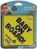 Safety 1st(セーフティファースト) Baby On Board 赤ちゃんが乗ってます 吸盤ステッカー (イエロー) [並行輸入品]