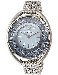 [スワロフスキー]Swarovski 腕時計 クリスタルライン オーバル ライトブルー ステンレススチール クォーツ 5263904 レディース 【並行輸入品】