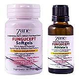 ファンガセプトアドバンストリペア・100% ナチュラルフットケア・早くて高い効果・水虫菌・1 oz - 30 ml・60 カプセル・108 mg のカルバクロール・ザネ・ヘラス