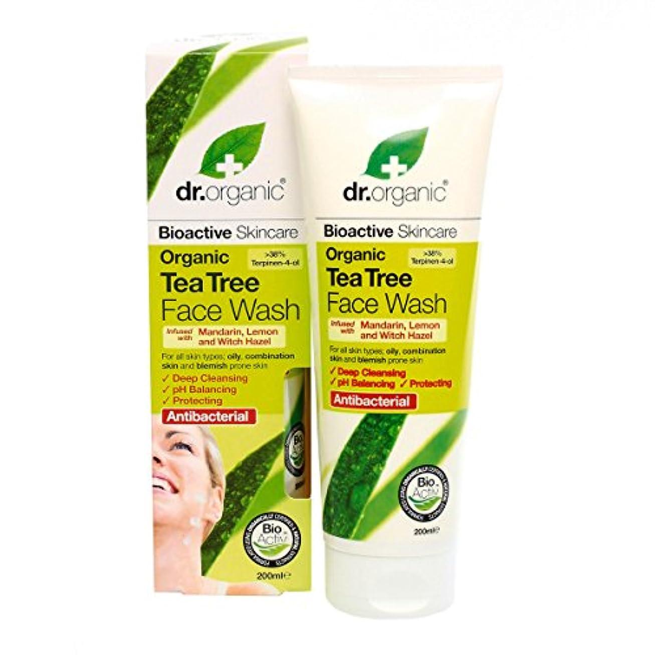アリーナレンズできればDr.organic Organic Tea Tree Face Wash 200ml [並行輸入品]