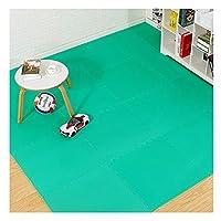 AWSAD ジョイントフロアマット イージーケア ノンスリップ リビングルーム 子供部屋 幼稚園、3色、60×60cm (Color : Green, Size : 60x60x2cm-1pcs)