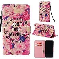 6.1インチpuレザーケース3d美容高級フリップケース磁気でカードホルダーキックスタンドケースカバー用iphone xr ケース・カバー (色 : Pink flower)