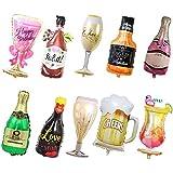 フェリモア アルミバルーン セット アルミ風船 飾り付け お酒 ビール シャンパン ワイン 装飾 (10種セット)