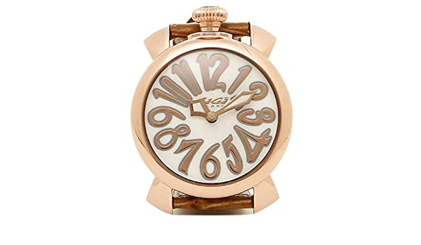 15582132e9 Amazon | [ガガミラノ] 時計 レディース GAGA MILANO 5021.2 BRW MANUALE40MM クォーツ 腕時計 ウォッチ  ピンク/ゴールド [並行輸入品] | 並行輸入品・逆輸入品・中古 ...