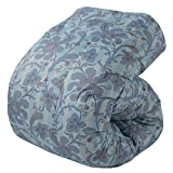 東京西川 羽毛布団 シングル フレンチシルバーダック90% 日本製 やわらか生地 抗菌防臭 ブルー KA06003010B