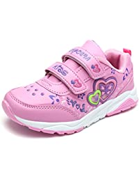 UBELLA 女の子 スニーカー 子供靴 運動靴 キッズ スポーツ 可愛い 通気 歩きやすい