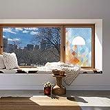 YOLIYANA エチレンフィルムプリントデザインウィンドウフィルム ファームハウス装飾 キッチン 寝室 リビングルーム トリッピー対流雲グループフィギュア サバンナフォアキャストなど 24''x36'' YO_08_09_Q0404_027007