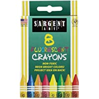 Sargent Art 35-0535 8-Crayons Peggable and Fluorescent [並行輸入品]