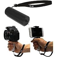 カメラ ハンドグリップ 一脚 手振れ 軽減 ハンディ モノポッド 一眼レフ ミラーレス コンパクト デジタルカメラ(デジカメ)・ ビデオ カメラ用 1/4インチ カメラハンドル MHG Type (ブラック)