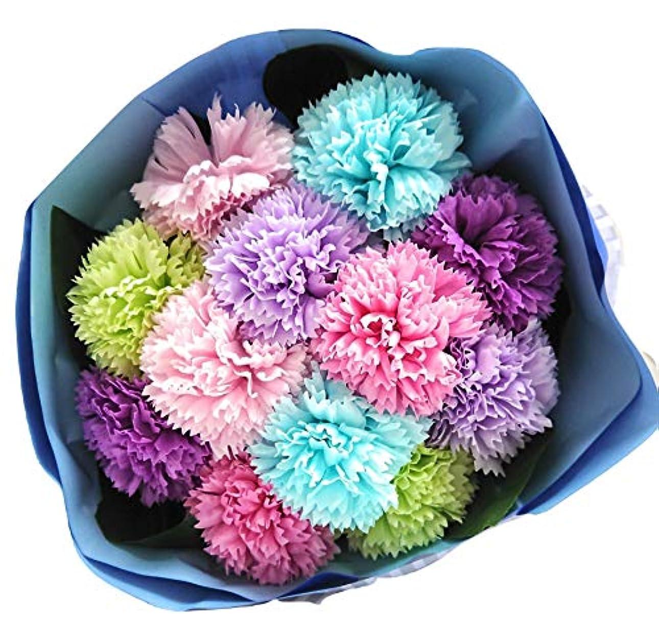 潤滑する住人分数バスフレグランス バスフラワー カーネーションブーケ 母の日 ギフト お花の形の入浴剤 (MIX)