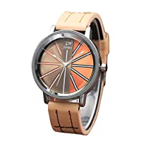 Mimoonkaka 腕時計 レディース ファッション カラー ストラップ デジタルダイヤル レザー バンド クォーツ アナログ ウォッチ 気質 魅力