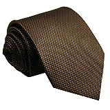 (シッラクスとウイング) Shlax&Wing ブラウン単一色紳士ロングネクタイシルクビジネス礼服斬新一般寸法のネクタイ