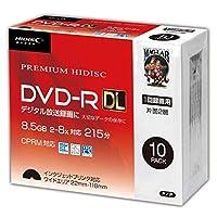 【10個セット】HIDISC DVD-R DL 8倍速対応 8.5GB 1回 CPRM対応 録画用 インクジェットプリンタ対応10枚 スリムケース入り HDDR21JCP10SC