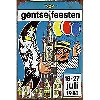 Gentse Feesten ティンサイン ポスター ン サイン プレート ブリキ看板 ホーム バーために